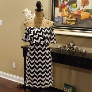 Judith March black white strapless dress L219:8:61
